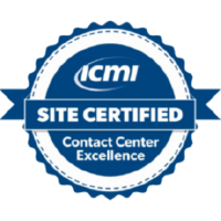ICMI site certified contact center excellence badge