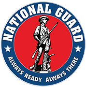 National Guard emblem. Always ready Always there