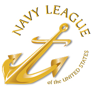 Navy league of the United States with gold anchor