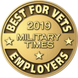 Best Employer for Vets 2019 Gold Coin for ranking