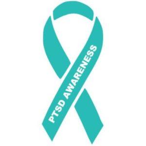 PTSD Awareness green ribbon