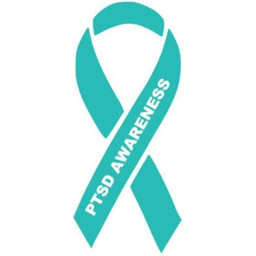 PTSD Awareness green ribbon