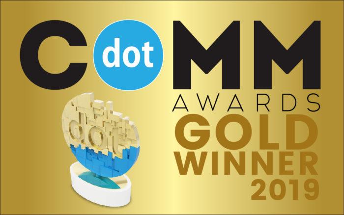 dotCOMM Gold Award Winner Logo