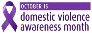 Domestic Violence awareness purple ribbon
