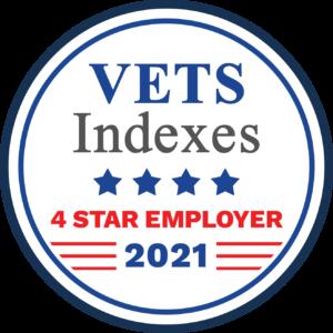Vets Index 4-Star Employer Award Logo